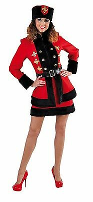 Ladies Russian Cossack Costume + Hat  - Spy / James Bond , sizes 6-22