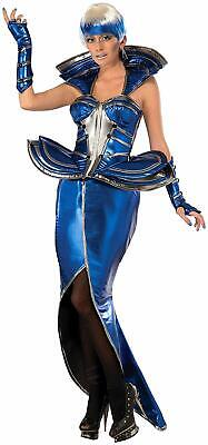 Cosmic Queen Space Future Fashion Blue Fancy Dress Up Halloween Adult Costume - Halloween Fashion Costumes