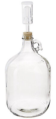 $11.35 - Home Brew Ohio Glass Fermenter Includes Rubber Stopper and Airlock, 1 Gallon