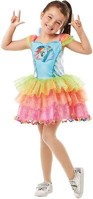 Mädchen Rainbow Dash + Wings My Little Pony Büchertag Kostüm Kleid Outfit ()