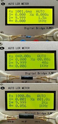 Industrial Digital Bridge Tester Auto Lcr Esr Meter Resistance Capacitor 10 Gain
