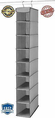 Shoe Shelves Space Saver Hanging Storage Closet Organizer Hanger Rack Gray New
