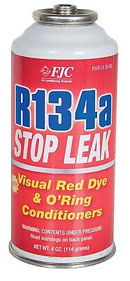 FJC - 9140  R134a Stop Leak w/ Red Leak Detection Dye (4 oz)