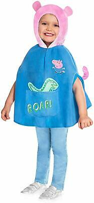 George Pig Dress Up (Peppa Pig George Pig Cape Costume Boys Fancy Dress Up Outfit)