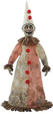 81cm Motion Sensitive Light Up & Sounds Horror Clown Halloween Doll Decoration