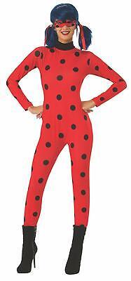 Cat Lady Halloween Costume (Ladybug Miraculous Lady Bug Cat Noir Fancy Dress Up Halloween Adult)