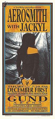 MINT & SIGNED Aerosmith 1994 Cleveland Arminski Poster MA0013
