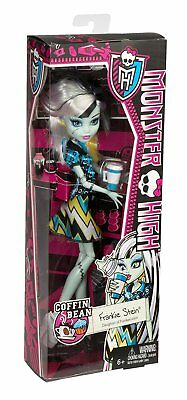 Mattel MONSTER HIGH COFFIN BEAN FRANKIE STEIN Doll in Box Halloween Scary NEW