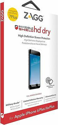 ZAGG InvisibleSHIELD iPhone 8 Plus & 7 plus HD Dry Screen Protector Guard Clear