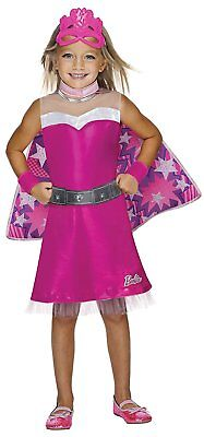 Super Sparkle Barbie Princess Power Pink Fancy Dress Up Halloween Child Costume (Dress Up Halloween Barbie)