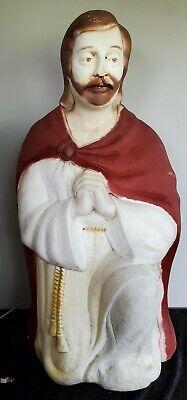 "☆Vintage 29"" Joseph Poloron Christmas Blow Mold Nativity Decoration"