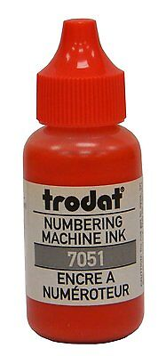 Red Trodat Numbering Machine Stamp Refill Ink 1oz Bottle