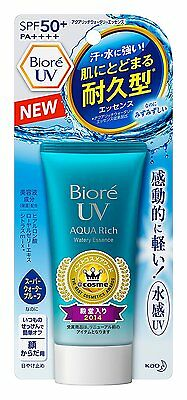 NEW!! JAPAN KAO Biore Aqua Rich Watery Essence Sunscreen SPF50+ PA++++ 50g