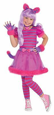 Cheshire Cat Costume Kids (Cheshire Cat Alice in Wonderland Pink Fancy Dress Up Halloween Child)