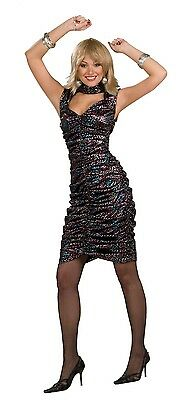 Damen Sexy Disco Dancer 1970s 70s Jahre Henne Do Kostüm Kleid Outfit 10-12-14