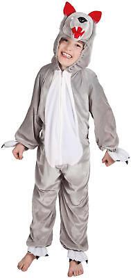Wolf Plüsch Overall Kinder Karneval Fasching Kostüm 116-140 ()