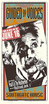 MINT & SIGNED Guided By Voices EINSTEIN 1995 Kentucky Arminski Poster MA0040