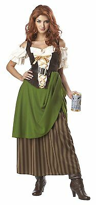 Halloween Costumes Bar Wench (Tavern Maiden Bar Maid Renaissance Wench Adult Deluxe Sexy Costume,)