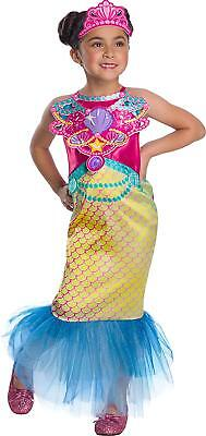 Mermaid Barbie Mattel Doll Toy Fancy Dress Up Halloween Toddler Child Costume (Dress Up Halloween Barbie)