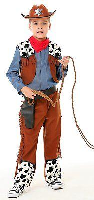 Western Cowboy Kostüm Kinder - Cowboy Kostüm Jungen mit Hut 26915 - Kind Western Cowboy Kostüm