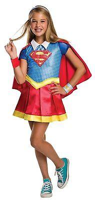 DC Super Hero Girls Deluxe Supergirl Halloween Costume 4-6 Small #N76](Supergirl Costume Girls)