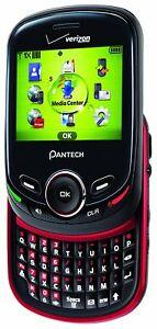 VERIZON CELL PHONE - Pantech Jest 2 TXT8045 - Slider Phone QWERTY Keyboard NEW