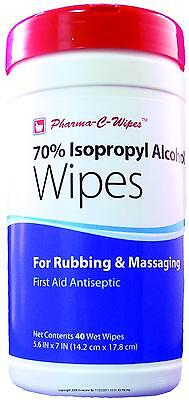 Pre-moistened 70 Isopropyl Alcohol First Aid Wipes 40pk 6pkcs 200736