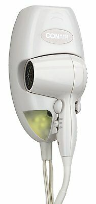 Conair 1600 Watt Wall Mount Hair Dryer with LED Nightlight , New, Free Shipping