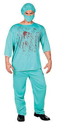 Adult Bloody Scrubs Surgeon Doctor Costume Mens Ladies Halloween Fancy Dress  (Bloody Scrubs)