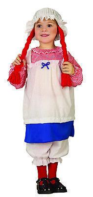 Kinder Mädchen Raggedy Ann Stoffpuppe Kleid Pantalons Hut - Raggedy Ann Kostüm Kinder