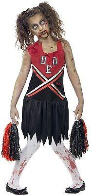 Zombie Cheerleader Halloween Kostüm 7-14 Jahre (Halloween-kostüme Toten Cheerleader)