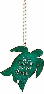 Be At Ease In Your Own Shell SEA TURTLE Car Charm, Hang from Rear-View Mirror!