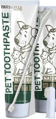 Pet Oral Dental Care Toothbrush Toothpaste for Dog Fresh Breath Plaque Removal