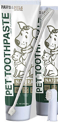 Pet Oral Dental Care Toothbrush Toothpaste for Dogs Fresh Breath Plaque Removal