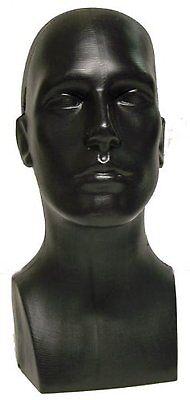 Tabletop Male Mannequin Standing Head Hat Scarf Display Black Glasses Display