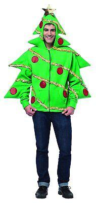Rasta Imposta 16025-M Grüne Weihnachtsbaum-Kapuzenjacke (M) NEU - Rasta Imposta Kostüm