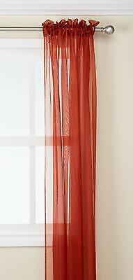 Kashi Home SP012578 55x84 Inch Lisa Sheer Panel - Rust