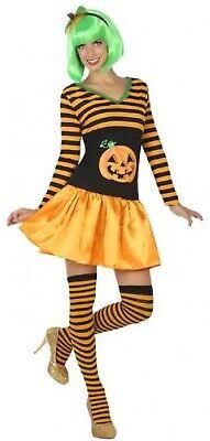 Ladies Cute Sexy Pumpkin Halloween Fancy Dress Costume With Shorts UK - Pumpkin Halloween Costume Uk