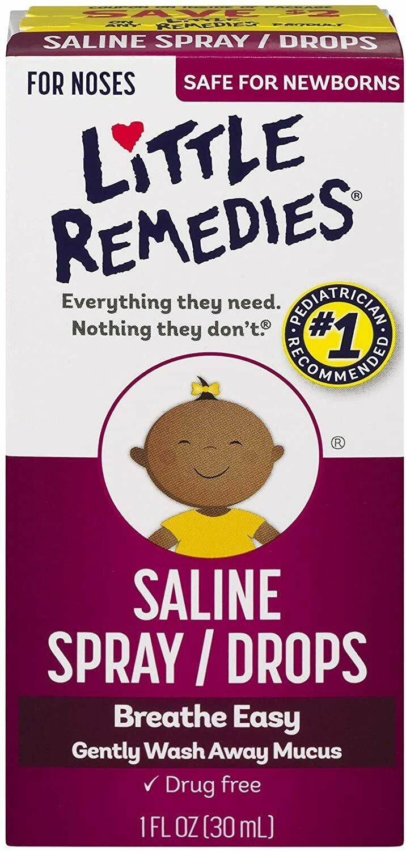 Little Remedies Saline Spray and Drops | Safe for Newborns |