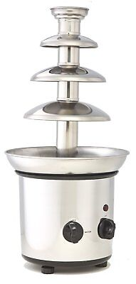 ClearMax CF-892 Electric 3-Tier Stainless Steel Chocolate Fountain - Silver