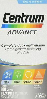 100 Centrum Advance A To Z Multivitamins Minerals Adult Formula Multi Vitamins