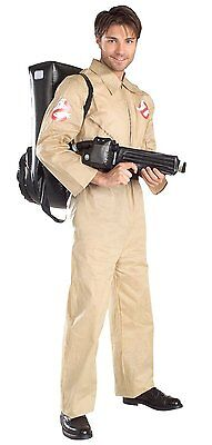 RUBIE'S ADULT MEN'S GHOSTBUSTERS COSTUME JUMPSUIT PROTON PACK ONE SIZE HALLOWEEN - Ghostbusters Costume For Men