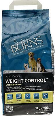 Burns Weight Control Complete Dry Adult and Senior Dog Food Chicken, 2 kg