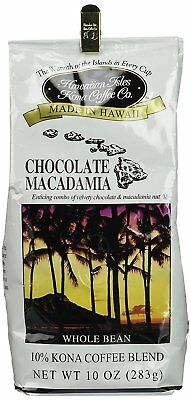 Kona Chocolate Macadamia Coffee 10oz All things considered Bean - 12 pack