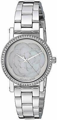Michael Kors Women's Petite Norie Pavé SilverTone Watch with MOP Dial  MK3891