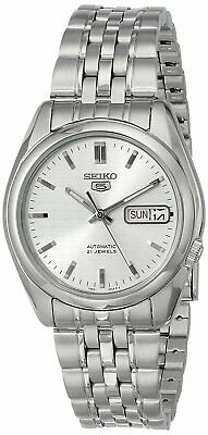 Seiko 5 SNK355 Automatic White Dial Stainless Steel 21 Jewels Men Watch SNK355K1