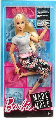 Barbie Made To Move Blonde Hair Doll