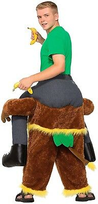 MAN RIDING ON MONKEY FUNNY ADULT UNISEX COSTUME FOR LAUGHS, ONE SIZE FITS ALL!](Funny Costumes For Adults)
