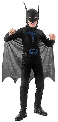 Jungen Schwarz Fledermaus Man Halloween Tier Held Kostüm Kleid Schuhe 4-12 Jahre
