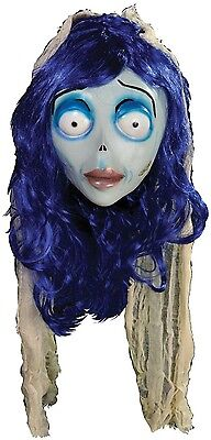 Ladies Tim Burton Corpse Bride Halloween Cosplay Fancy Dress Costume Outfit Mask